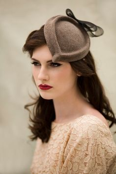 Bow Cocktail Hat by MaggieMowbrayHats on Etsy