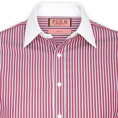 Andres Stripe Shirt - Button Cuff by Thomas Pink