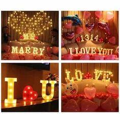 Graduation Desserts, Graduation Decorations, Birthday Room Decorations, Christmas Decorations, Wedding Night Room Decorations, Valentine Decorations, Romantic Dinners, Romantic Ideas, Romantic Proposal