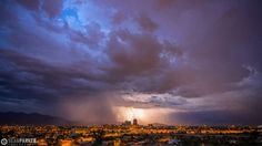 Lightning over dowtown Tucson http://www.sean-parker.com/