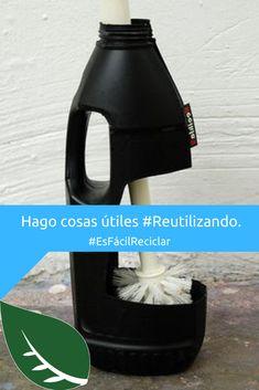 Cuando #Reutilizas puedes hacer de los objetos comunes algo extraordinario y útil para tu casa. 😄