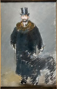 Édouard Manet  (French, 1832-83)  The Man with the Dog, 1882