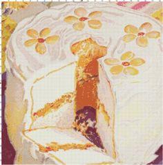 Yummy cake cross-stitch pattern