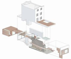 Gallery of khan house / drdh architects - 12 architecture dr Architecture Graphics, Architecture Drawings, Architecture Portfolio, Concept Architecture, Architecture Details, Architecture Program, Architecture Diagrams, Axonometric Drawing, 3d Modelle