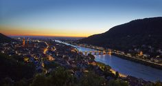 Blaue Stunde in Heidelberg