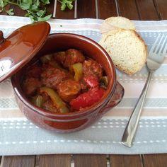 Σπεντζοφάι Salsa, Mexican, Meat, Ethnic Recipes, Food, Essen, Salsa Music, Meals, Yemek
