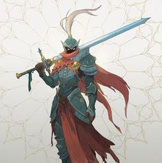 Hey everyone! It's been a while since I've posted anything, but now I'm happy to share my final graduation project. I had to make quite a number of concepts, and that is the first part - the main hero of the game, the undead knight in search Fantasy Character Design, Character Design Inspiration, Character Concept, Character Art, Character Creation, Fantasy Armor, Medieval Fantasy, Armor Concept, Concept Art