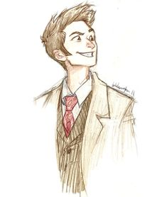 David Tennant as Doctor Who Burdge Decimo Doctor, Serie Doctor, Doctor Who Art, Eleventh Doctor, Doctor Who Drawings, Doctor Help, Doctor Drawing, Medical Doctor, David Tennant