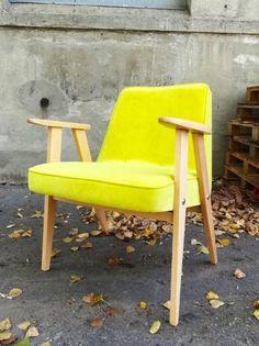 Fotel PRL retro 366 chierowski limonka cytryna (5613795496) - Allegro.pl - Więcej niż aukcje.