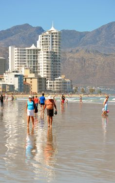 Strolling on Strand's 5 km long beach - Cape Town. #strolling #Strand #beach