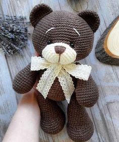 Crochet bear amigurumi - free crochet pattern for this adorable little bear. - HOBBY Crochet bear amigurumi – free crochet pattern for this adorable little bear. Crochet bear amigurumi – free crochet pattern for this adorable little bear. Cute Crochet, Crochet Crafts, Crochet Dolls, Crochet Projects, Crocheted Toys, Kids Crochet, Knitted Dolls, Crochet Bear Patterns, Amigurumi Patterns
