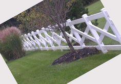 white vinyl fence #EasyNip