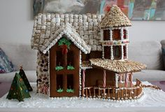 My 2010 Gingerbread House Patterson Gingerbread House Pattern from Henderson Hartung Gingerbread Gingerbread House Patterns, Christmas Gingerbread House, Gingerbread Houses, Christmas Elf, Gingerbread Cookies, Patterson House, Ginger Bread Cookies Recipe, Witch House, Happy Holidays