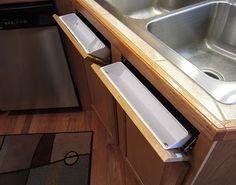 Turn The Unusable Under The Sink Panels Into Usable Tilt Out Storage Cubbies