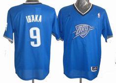 Oklahoma City Thunder 9# Serge Ibaka 2013 Christmas Day Swingman Jersey 24.5$