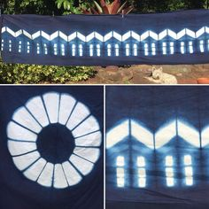 Otterman pieces finished, now ready to assemble. Itajime Shibori, indigo dyed | Clamp resist created by Jane Postle
