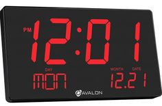 Buy Bluetech Oversized LED Digital Clock- Extra Large Display, Easy To Read 3 Inch Digits, Sleek Design - Wall-Shelf Clock For Home Or Office Use