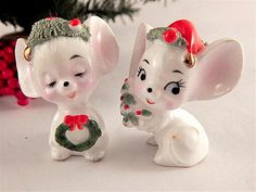 Mouse Couple Figurines Napcoware by SpringJewelryThings on Etsy