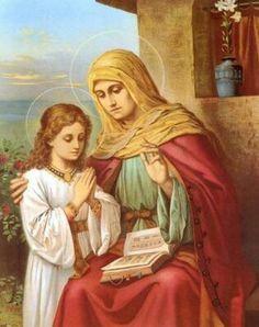 Señora Santa Ana, madre de la Virgen María.