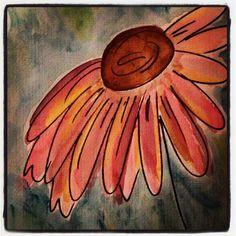Watercolor Flower. #beginner