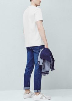 Denim collection Medium wash Five pockets Loops Zip and one button fastening 16 cm hem Mango Sale, Philippines, Latest Trends, Trousers, Menswear, Normcore, Slim, Mens Fashion, Medium