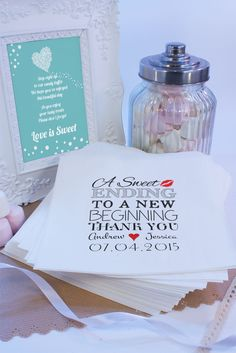 Personalised Sweet Bags A SWEET ENDING  Candy Cart Wedding Favours Confetti Enga #MadebyMika #Weddingmarriageengagement