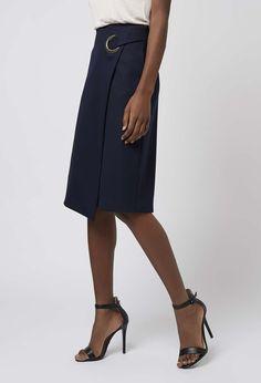 Topshop - Premium Wrap Midi Skirt