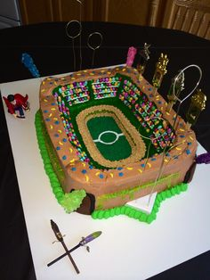 Quidditch Pitch Harry Potter Birthday Cake!