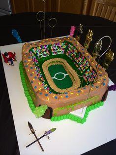 Quidditch Pitch Harry Potter Birthday Cake!