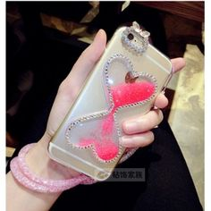 Bling Bling schöne Treibsand Sanduhr transparente Handyhülle für Iphone6/6s/6plus