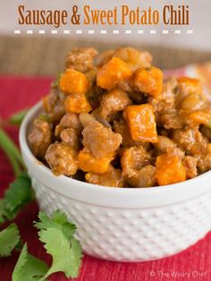 I don't mean to toot my own horn, but this Sausage and Sweet Potato Chili may be the best recipe I've shared to date!
