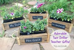 Great idea!! My Love 2 Create: Reclaiming blinds to use on Teacher Gifts #teachergifts