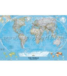 mural-sized world wall map by National geographic ... Price: $100.00