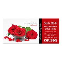 promotional red roses beauty salon rack card by pics4merch spa salon beauty
