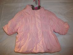 Kenneth Cole Reaction Baby Girl's Winter Puffer Coat Hooded Pink Size 12M #KennethColeReaction #Coat