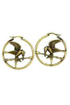 these mockingjay earrings will be at Hot Topic on 2/22!