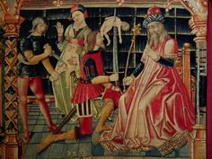 Massacre of the Innocents from Tapestry in Collegiale de Notre Dame, Beaune, France