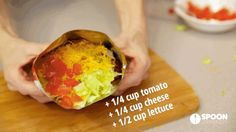 Make an Epic Deconstructed Taco in a Fritos Bag Walking Tacos, Frito Pie, Diy Food, Yummy Drinks, Lettuce, Cabbage, Treats, Canning, Vegetables