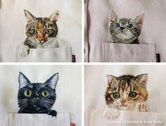 Kitty shirts by Hiroko Kubota