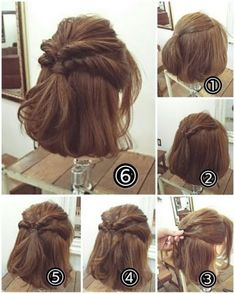170 Easy Hairstyles Step by Step DIY hair-styling can help you to stand apart from the crowds. - 170 Easy Hairstyles Step by Step DIY hair-styling can help you to stand apart from the crowds – P - Medium Hair Styles, Curly Hair Styles, Hair Arrange, Short Hair Updo, Messy Updo, Pinterest Hair, Hair Looks, Hair Trends, Easy Hairstyles