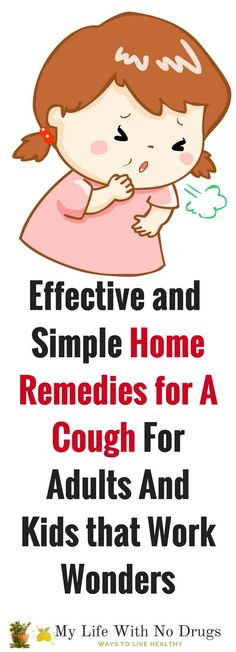 Effective and Simple Natural Home Remedies for A Cough for adults and kids that Work Wonders. #home #kids #cough #homeremedies #remedies #health #healthtips #remedy #diy