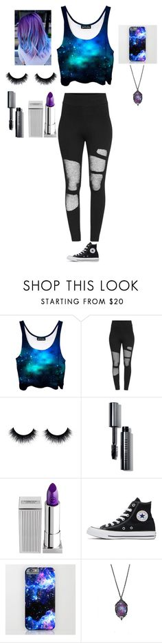 """Untitled #33"" by nightmare-sans on Polyvore featuring Bobbi Brown Cosmetics, Lipstick Queen and Converse"