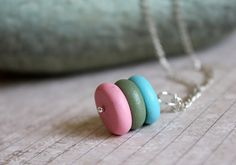 Pebbles. Polymer clay necklace...