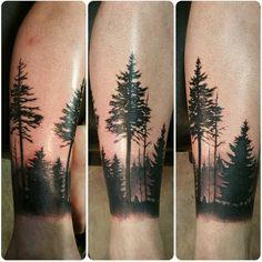 tatouage d'arbre forêt