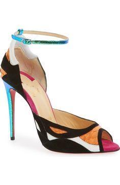 \u0027Discodeporte\u0027 Genuine Python Ankle Strap Pump (Women). Louboutin PumpsChristian  Louboutin ShoesLeather ...