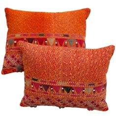 Afghani Pashtun Tribal Embroidery Pillows.