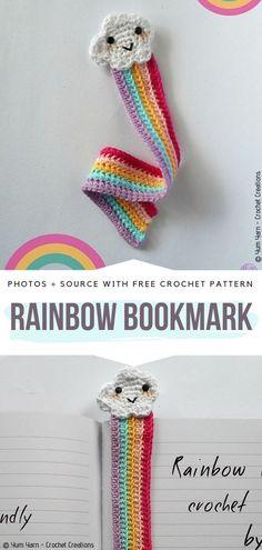 Funny Crochet Bookmarks Free Patterns – Free Crochet Patterns - Home & DIY Marque-pages Au Crochet, Crochet Mignon, Crochet Amigurumi, Crochet Books, Cute Crochet, Funny Crochet, Crochet Craft Fair, Crochet Mandala, Crochet Afghans