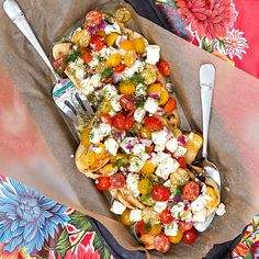 This Dill Caprese Bruschetta has a light, clean taste thanks to the grapeseed oil in Tracy's Gourmet DILLightful Dressing. Marinage the tomatoes, red onion and mozzarella overnight and then pour over toasted and garlic-rubbed ciabatta for a quick, festive appetizer perfect for a grilling party. #sponsored Enjoy! | pastrychefonline.com #ProgressiveEats