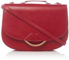 88e952b3d121b Lulu Guinness Isabella half covered lip cross body bag