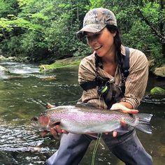 On a dry! #rainbow #flyfishing @flylords @flyfishingfilmtour @shannonwhitworthmusic